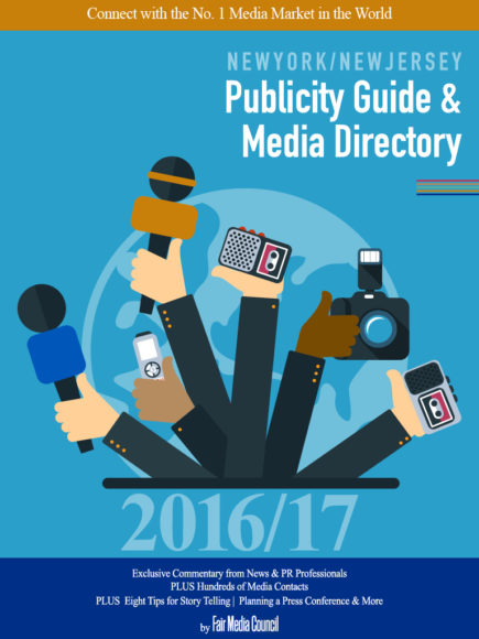 New York & New Jersey Publicity Guide & Media Directory by Fair Media Council available on Amazon