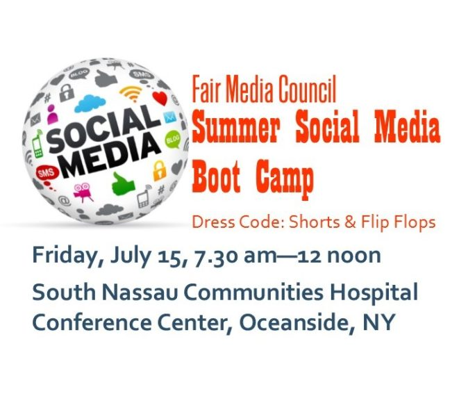 Fair Media Council Summer Social Media Boot Camp July 15, 2016