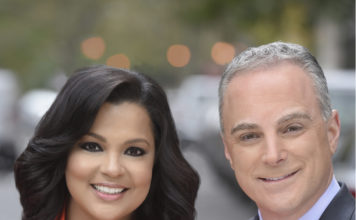 Among the notables at Folio on March 28: Sukanya Krishnan & Scott Stanford, co-anchors PIX11 Morning News - Fair Media Council