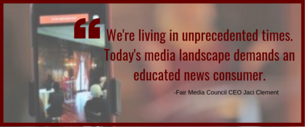 we're living in unprecedented times. today's media landscape demands an educated news consumer. - fmc ceo jaci clement